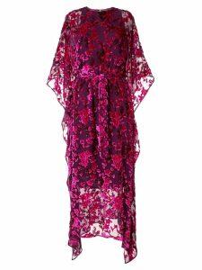 Taller Marmo Mary's Garden kaftan dress - Purple