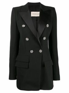 Alexandre Vauthier crystal button double-breasted blazer - Black