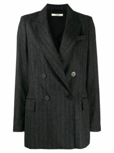 Odeeh pinstriped double breasted blazer - Grey