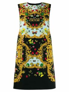Versace Jeans Couture butterfly print dress - Black