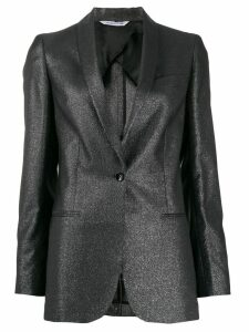 Tonello metallic slim-fit blazer - Black
