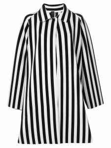 Norma Kamali reversible striped coat - White