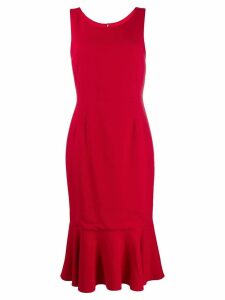 Dolce & Gabbana fitted ruffle dress - Red