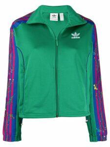 adidas floral track jacket - Green