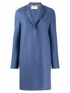 Harris Wharf London single breasted coat - Blue