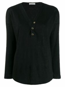 Sandro Paris Linelle knitted top - Black