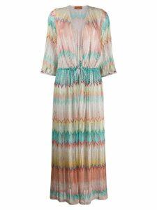 Missoni Mare embroidered maxi dress - Blue