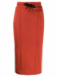 Palm Angels stripe detail midi skirt - Red