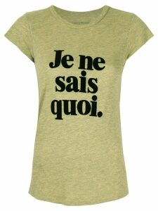 Zadig & Voltaire slogan print T-Shirt - Yellow