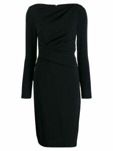 Talbot Runhof fitted dress - Black