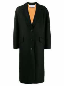 Harris Wharf London single breasted coat - Black