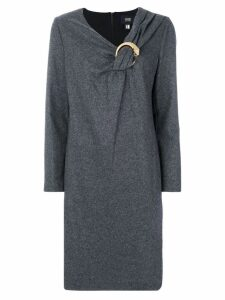 Cavalli Class ruched collar dress - Grey