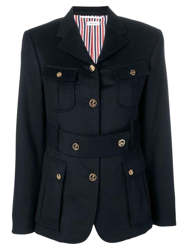 Thom Browne Navy Norfolk Sport Coat - Blue