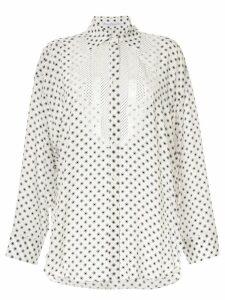 Ermanno Scervino polka dots blouse - White