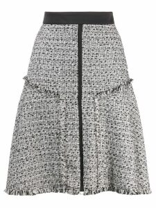 Karl Lagerfeld A-line boucle skirt - White
