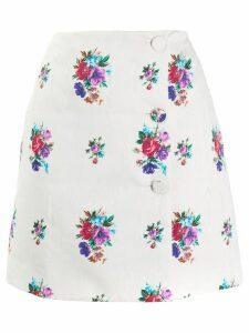 MSGM floral skirt - White