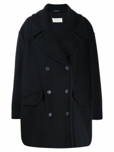 Maison Margiela oversized double breasted coat - Blue