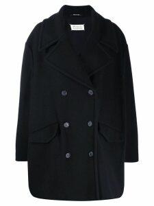 Maison Margiela oversized double breasted coat - Blue