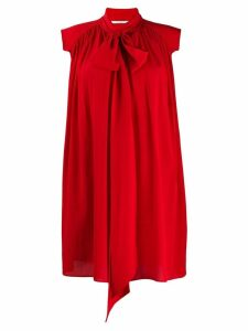 Givenchy scarf detail dress - Red