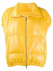 Alysi short sleeve puffer jacket - Yellow