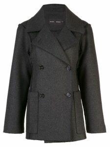 Proenza Schouler Oversized Wool Cashmere Peacoat - Grey