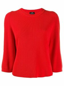 Elisabetta Franchi ribbed knit boxy sweater - Orange