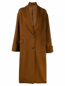 Joseph oversized single-breasted coat - Brown