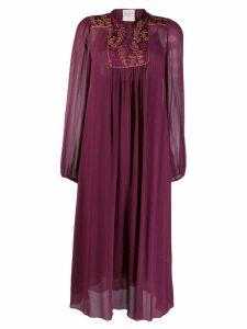 Forte Forte embroidered panel midi dress - Purple
