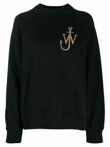 JW Anderson logo embroidered sweatshirt - Black