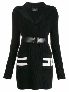 Elisabetta Franchi ribbed knit fitted dress - Black