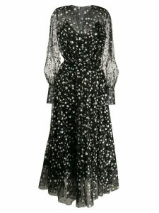 Oscar de la Renta floral flared dress - Black