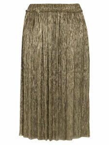 Isabel Marant Étoile Beatrice lamé plissé skirt - Gold