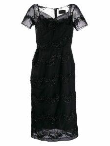 Simone Rocha decorated tulle dress - Black