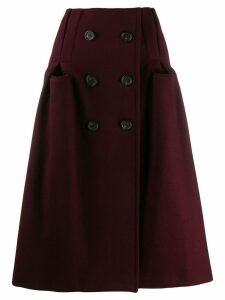 Maison Margiela A-line midi skirt - Red