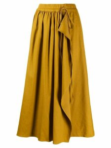 MRZ high rise wrap midi skirt - Yellow