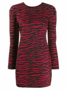 P.A.R.O.S.H. zebra print short dress - Red