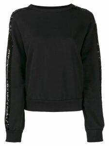 Iceberg sequin stripe sweatshirt - Black
