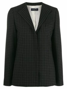 Piazza Sempione check tailored blazer - Black