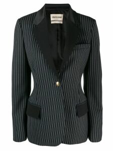 Roberto Cavalli pinstriped single button blazer - Blue