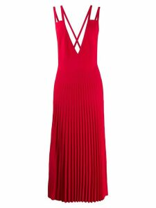 MRZ pleated pinafore dress - Red