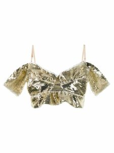 Simone Rocha sequinned bustier top - Gold