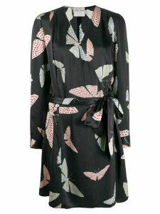Forte Forte silk printed wrap dress - Grey