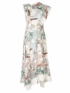 3.1 Phillip Lim Twisted printed asymmetric dress - White