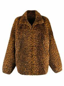 Sprwmn oversized faux fur jacket - Brown