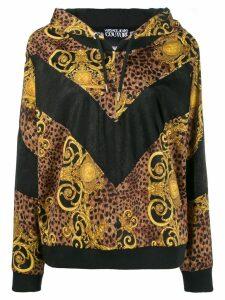 Versace Jeans Couture brocade print hoodie - Black