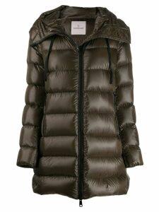 Moncler hooded puffer jacket - Green