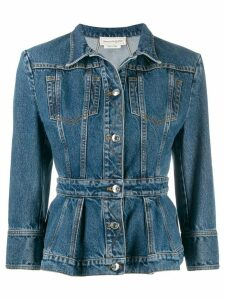 Alexander McQueen fitted denim jacket - Blue