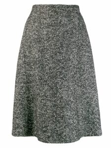 Rochas knitted patterned skirt - Black