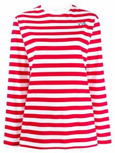 Victoria Victoria Beckham striped long-sleeved T-shirt - Red