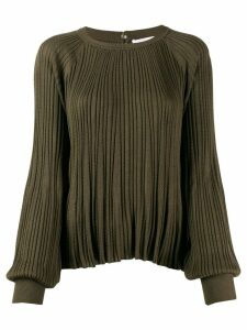 Chloé pleated cable knit top - Green